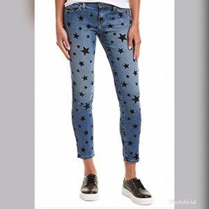 Current/Elliott low-rise skinny jeans.